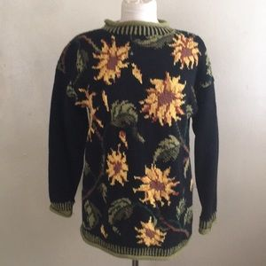 Sunflower Design Vintage Sweater
